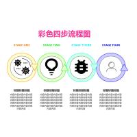 彩色四步流程图